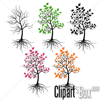 CLIPART TREES SEASONS.