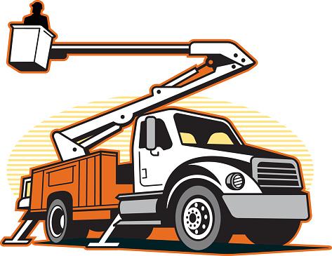 Free Bucket Truck Silhouette, Download Free Clip Art, Free.