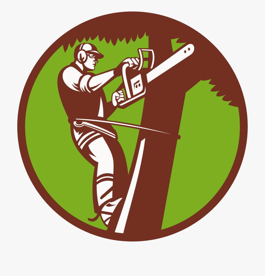 Tree Stump Arborist Logo Stump Grinder.