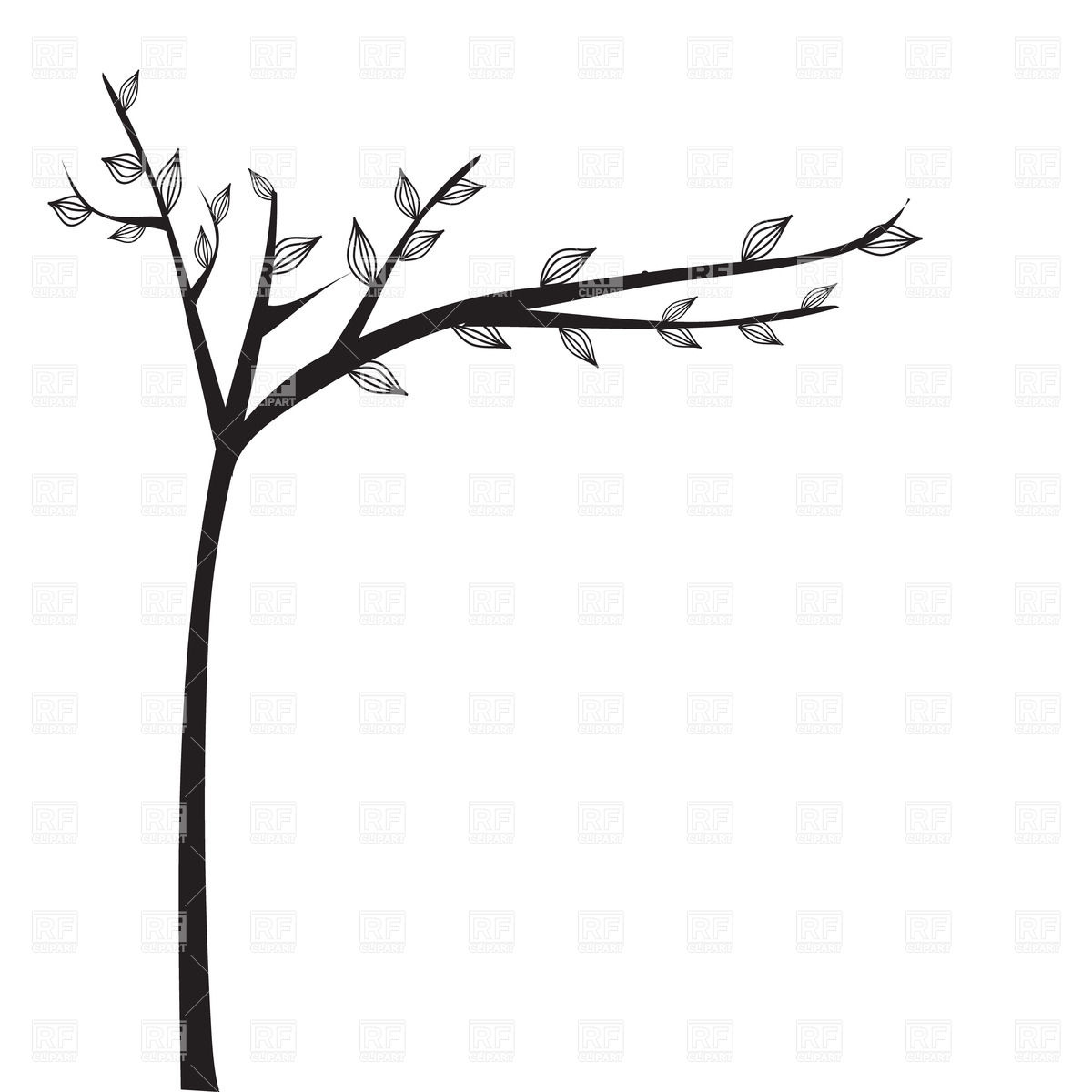 Abstract black tree silhouette Vector Image #23121.