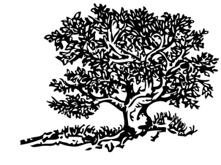Tree silhouette black clipart #7