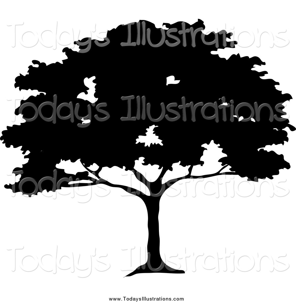 Tree silhouette black clipart #18