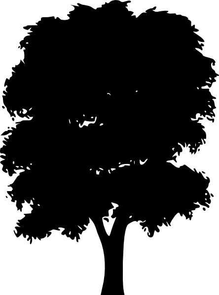 Maple Tree Silhouette Clipart.