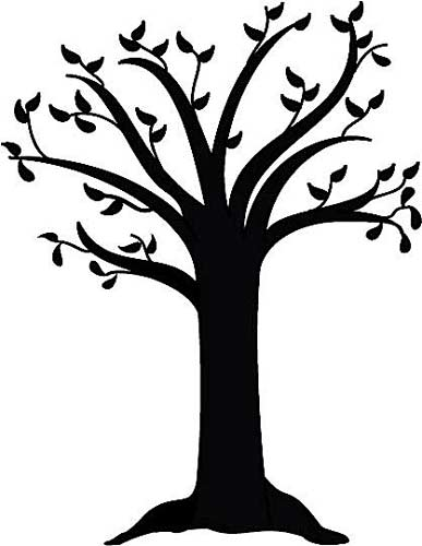 Free tree silhouette clipart.