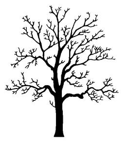 Clipart Oak Tree Silhouette.