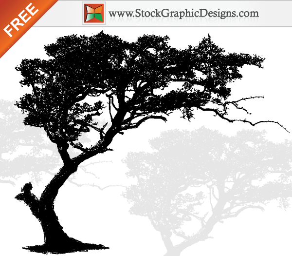 Free Vector Art Tree Silhouette.