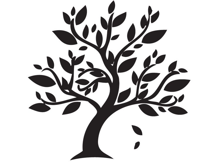 Tree Silhouettes, Vectors, Clipart, Svg.