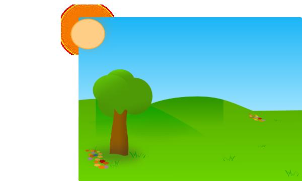 Trees Sky Grass Clip Art at Clker.com.
