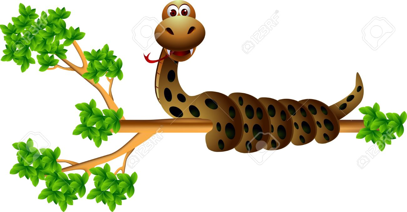 Snake On The Tree Royalty Free Cliparts, Vectors, And Stock.