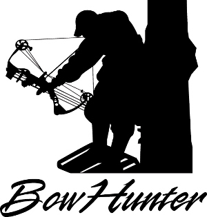 Bowhunter In Tree Stand Decal.