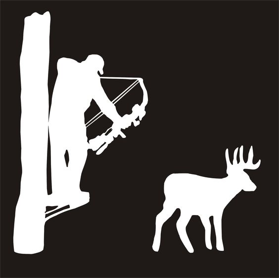 Clipart deer hunting in tree stand.