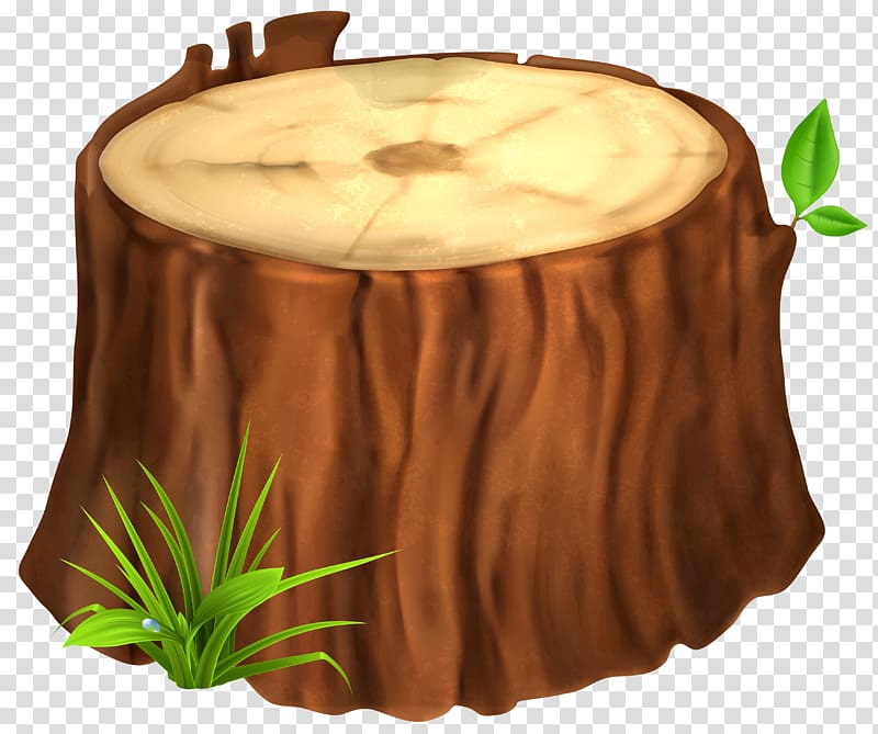 Wood stamp illustration, Tree stump , Tree Stump transparent.