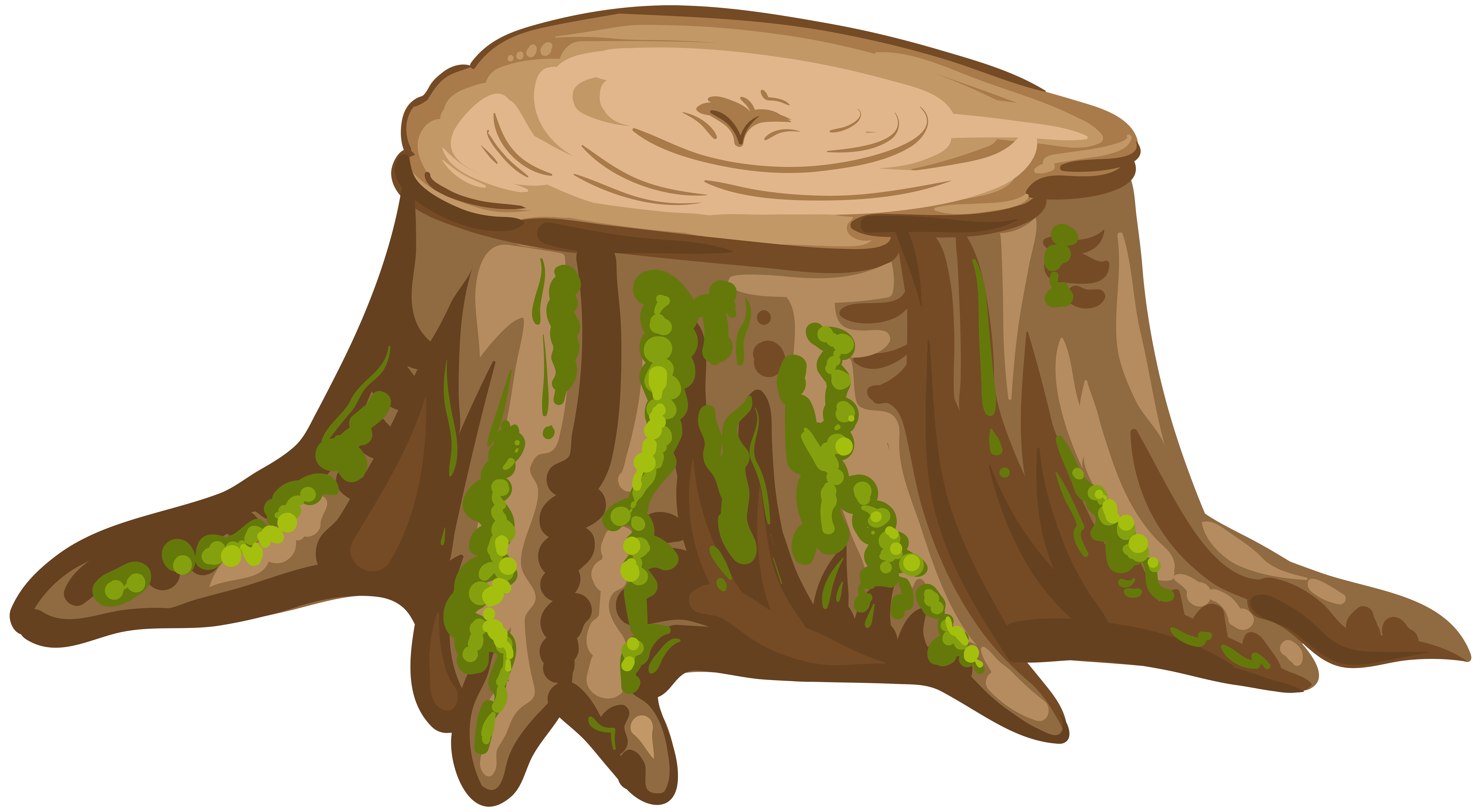 Tree Stump PNG Clip Art Image.