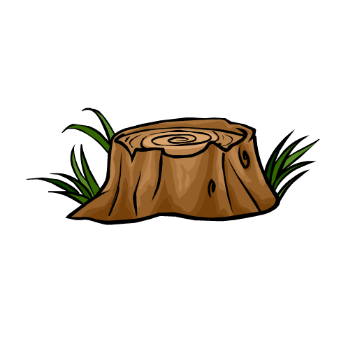Cartoon Tree Stump Clipart Best.