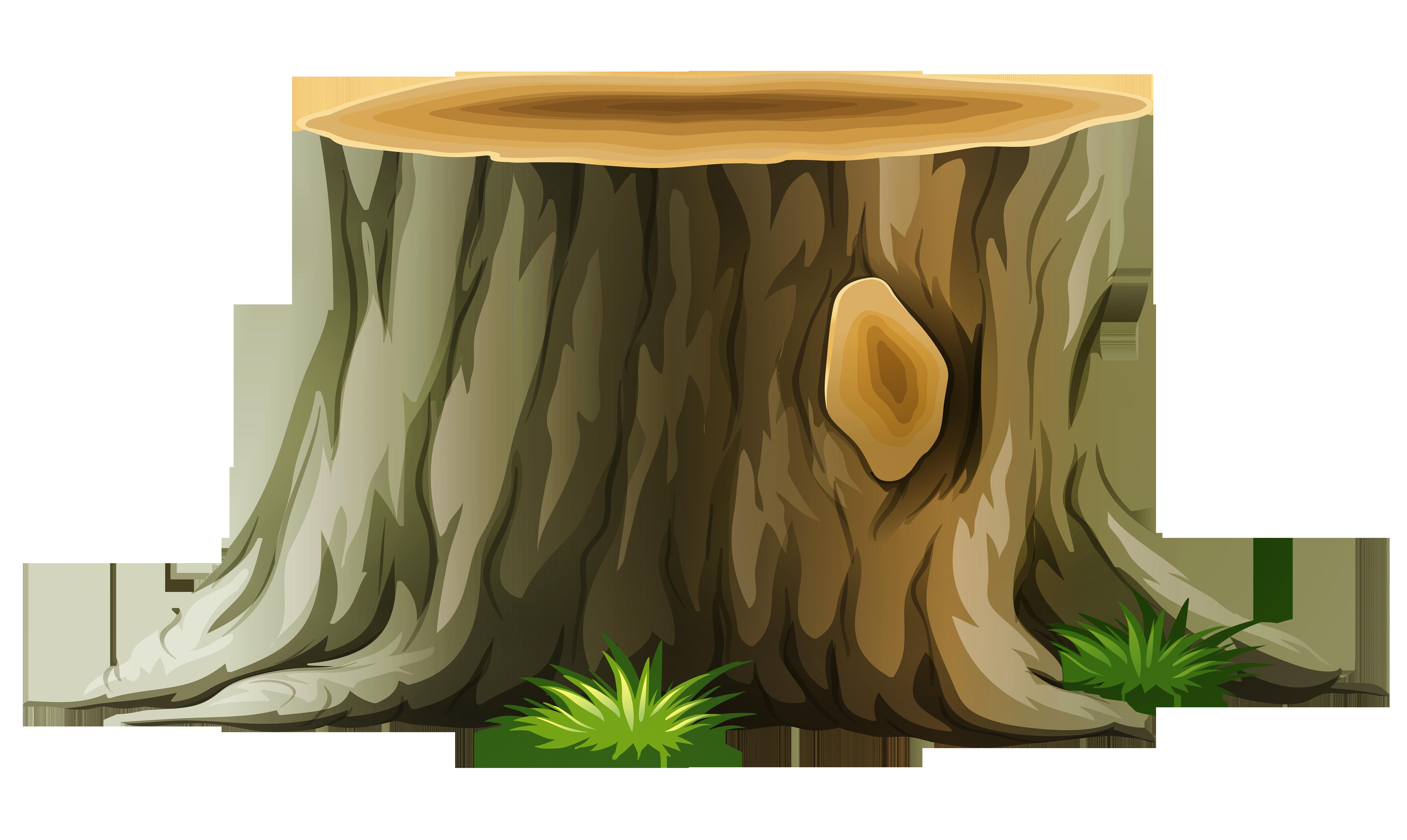Clip Art Tree Stump.