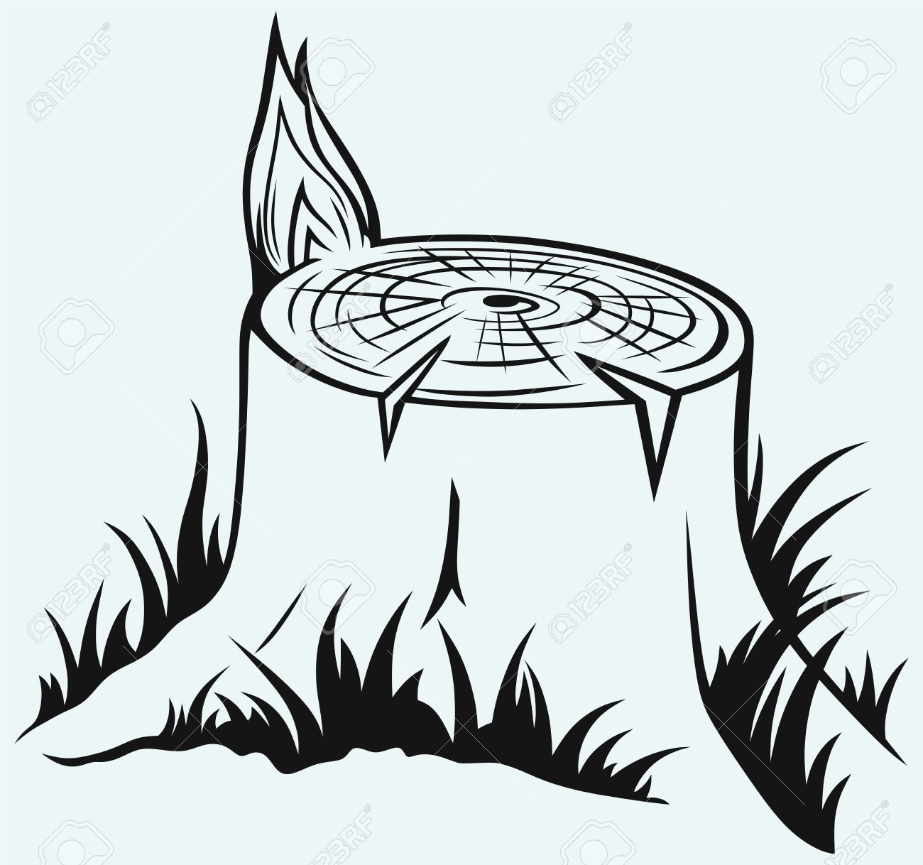 Tree stump clipart.