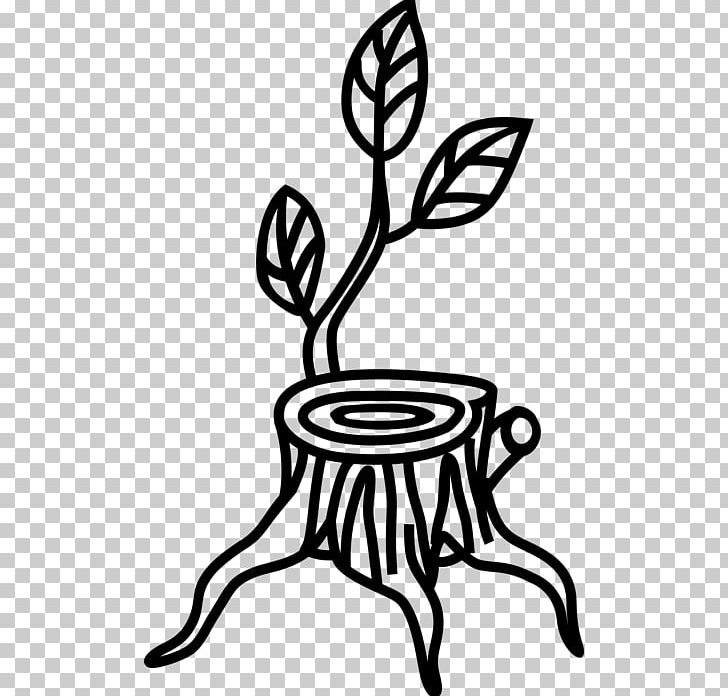 Tree Stump Trunk PNG, Clipart, Artwork, Black And White.