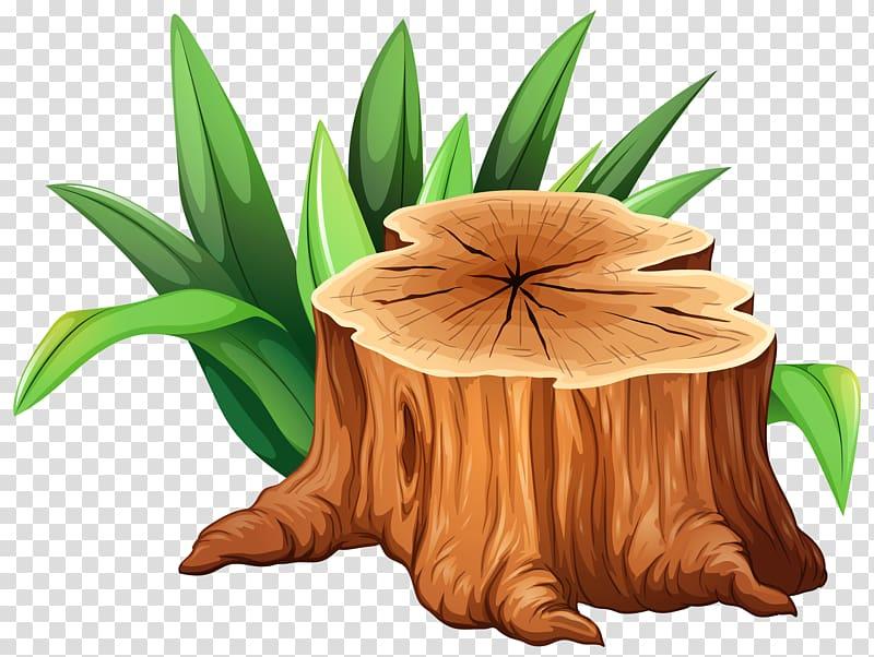 Tree trunk and grass illustration, Tree stump , Tree Stump.