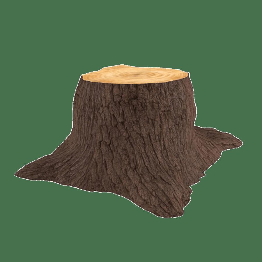 3D Tree Trunk transparent PNG.