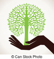 Colorful hand pencil tree support Vector Clipart Royalty Free. 2.