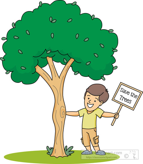 Tree Supporting The Environment Clipart.