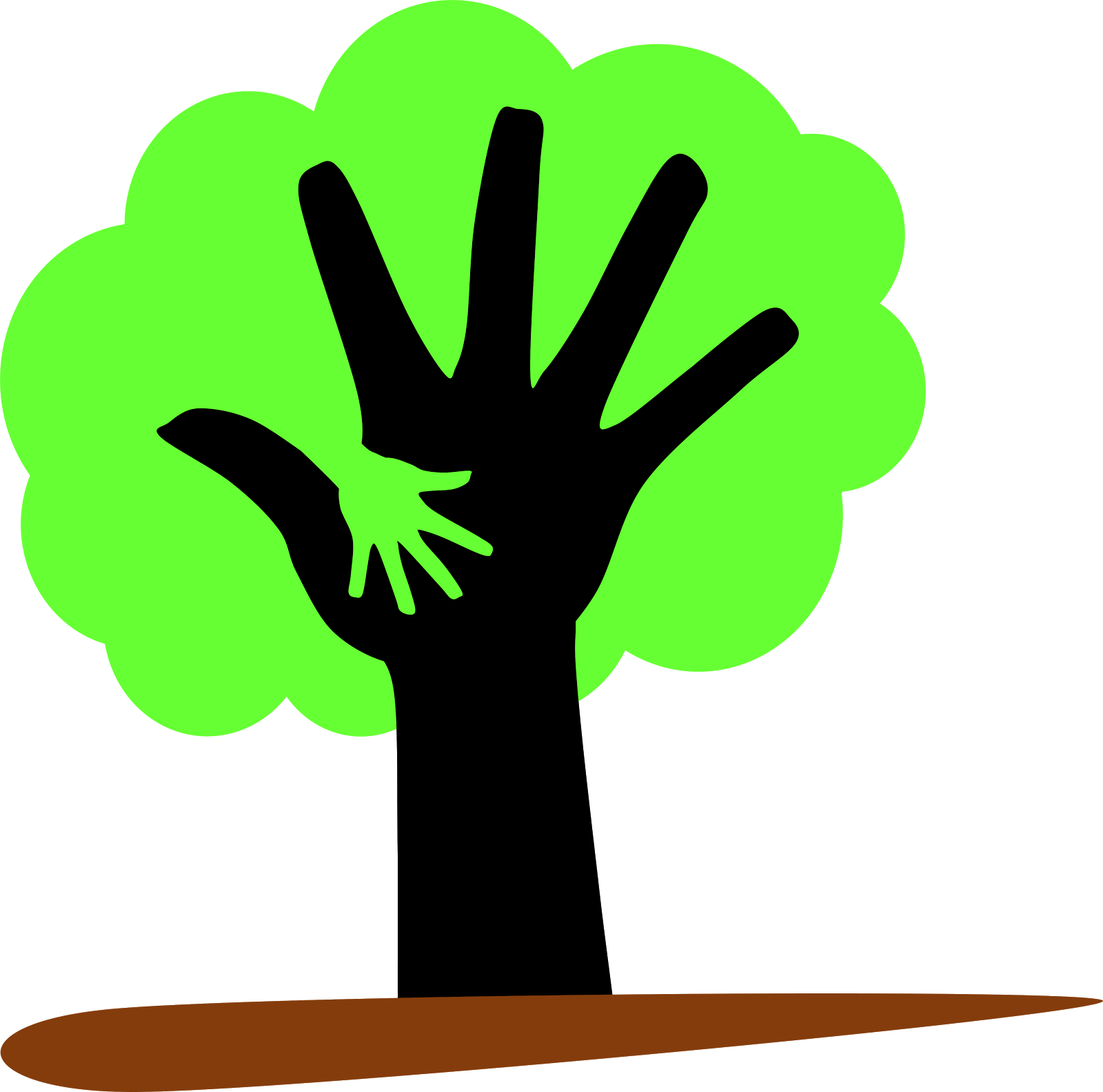 tree supporting the environment clipart - Clipground