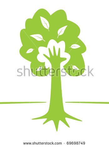 Hand Tree Stock Images, Royalty.