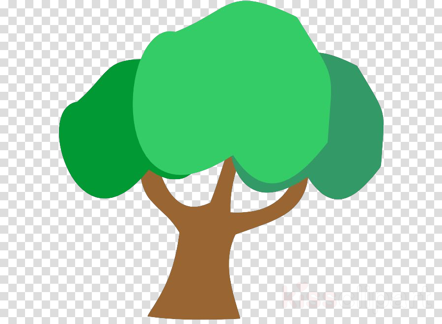green tree symbol leaf plant clipart.