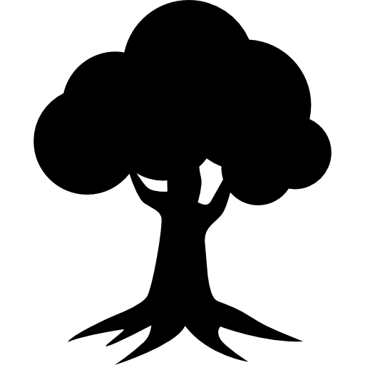 Royal oak homes logo of tree silhouette Icons.