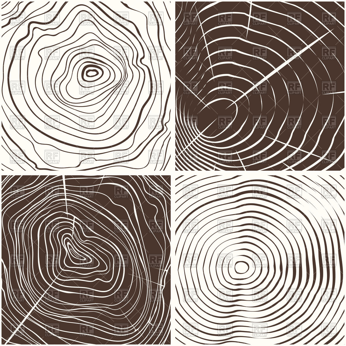 Wood rings texture or tree rings Vector Image #134141.