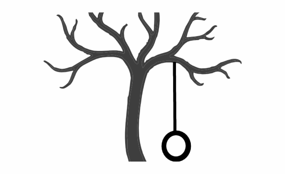 Drawing Of Tree With Tire Swing.