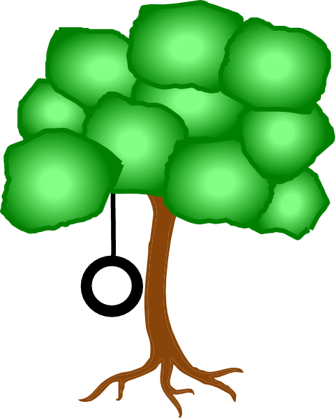 Tree With Tire Swing Clip Art at Clker.com.