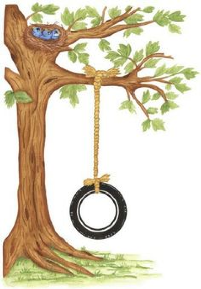 Download Free png Tree With Tire Swing Clipart.