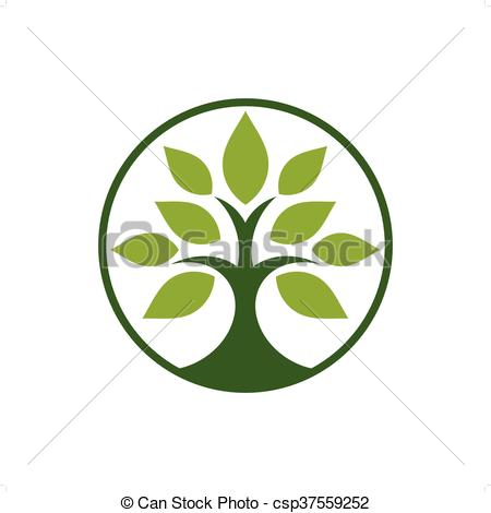 Clipart Vector of Tobacco Tree.