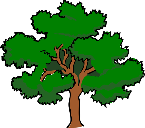 5118 clipart live oak tree silhouette.