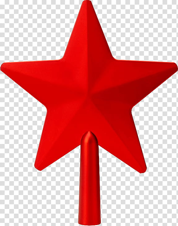 Christmas, red star Christmas tree topper transparent.
