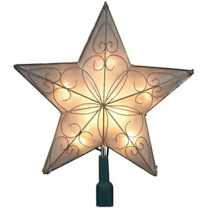 Christmas tree topper clipart.