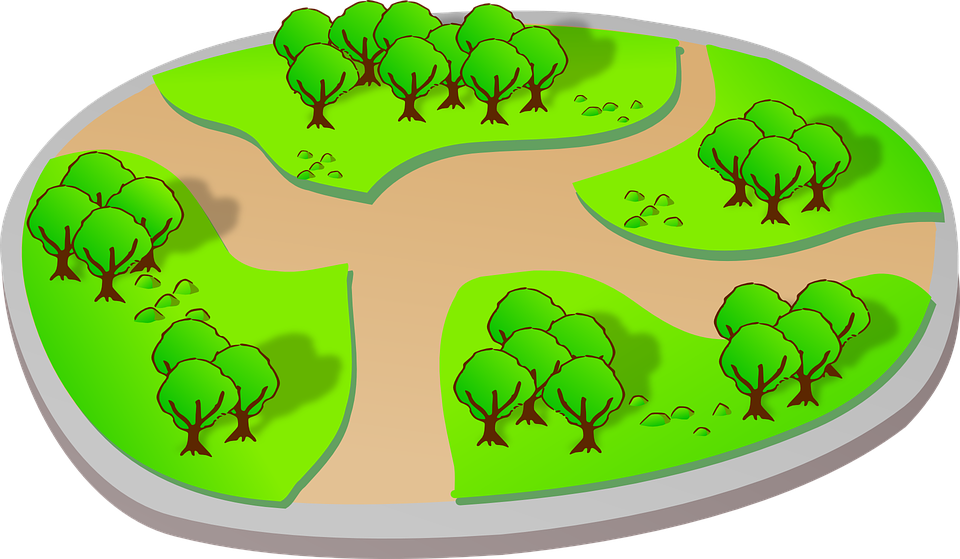 Free vector graphic: Landscape, Park, Trees, Trail.