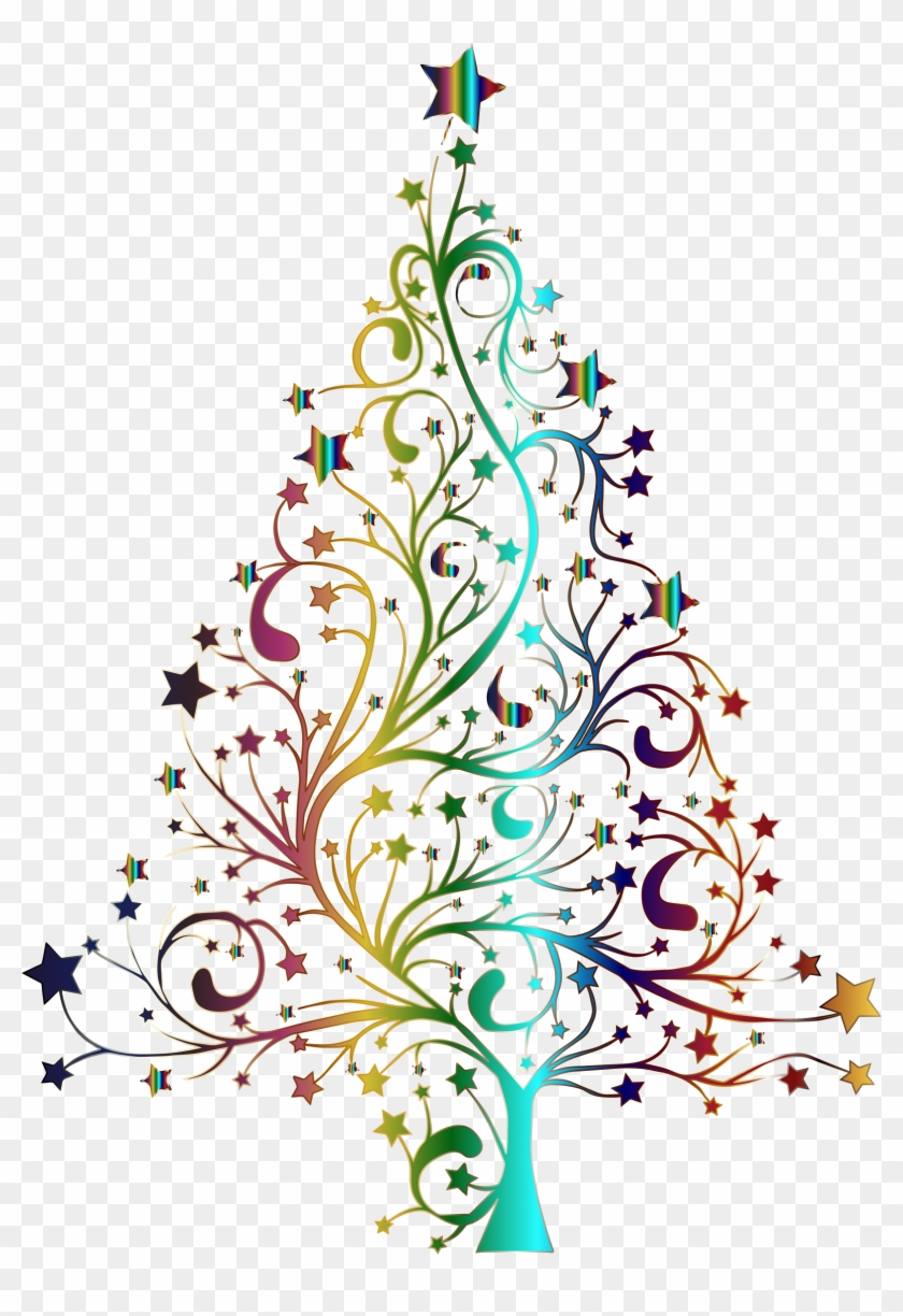 Starry Tree Prismatic No Background Icons Png.