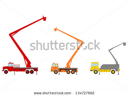 Gallery For > Tree Trimming Bucket Truck Clipart.