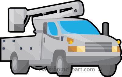 Bucket Truck Clipart.