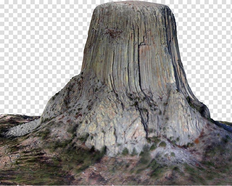Devils Tower Tree stump Volcanic plug Rock, devil\\\'s town.