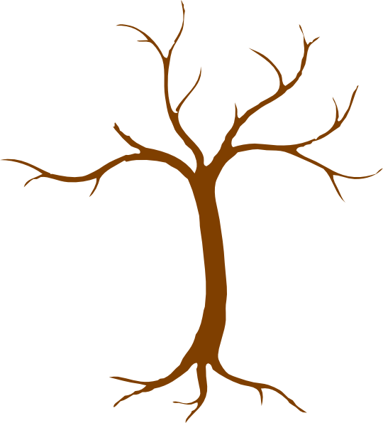 tree trunk with branches clipart #16