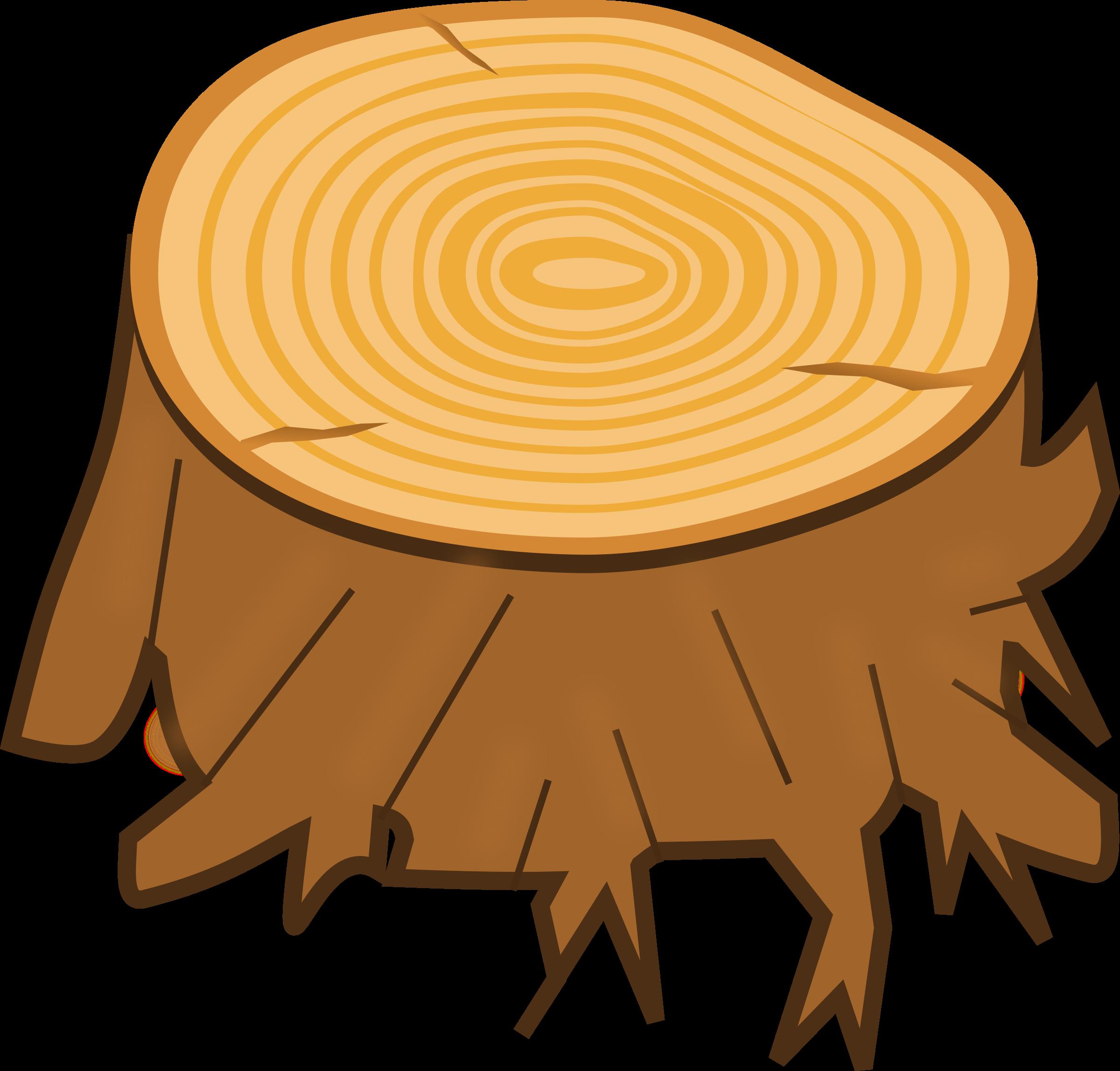 Tree stump clipart transparent.