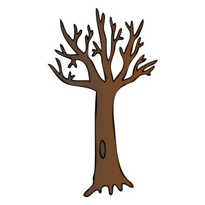 Bare Tree Trunk Clipart.