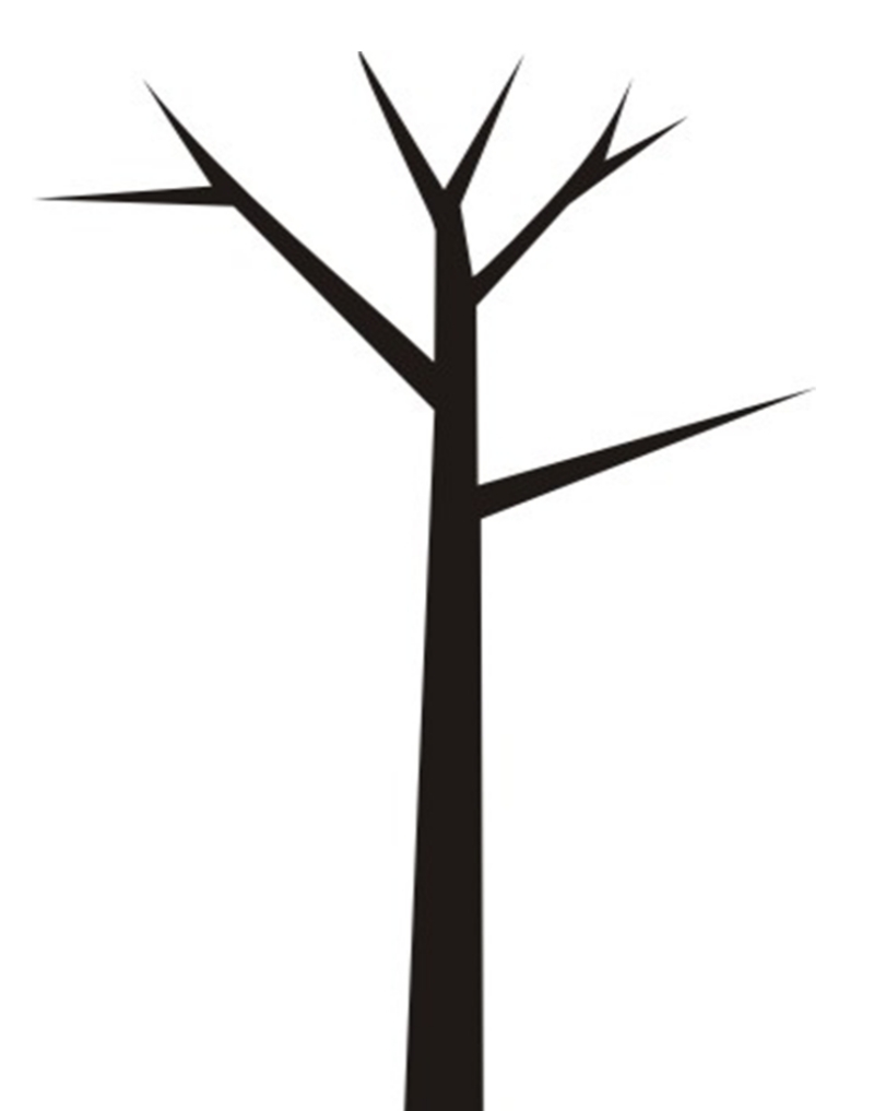 tree trunk clipart black and white clipground
