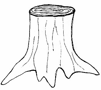 Tree Trunk Clipart Black And White.