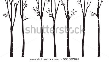 Tree Silhouette Stock Images, Royalty.