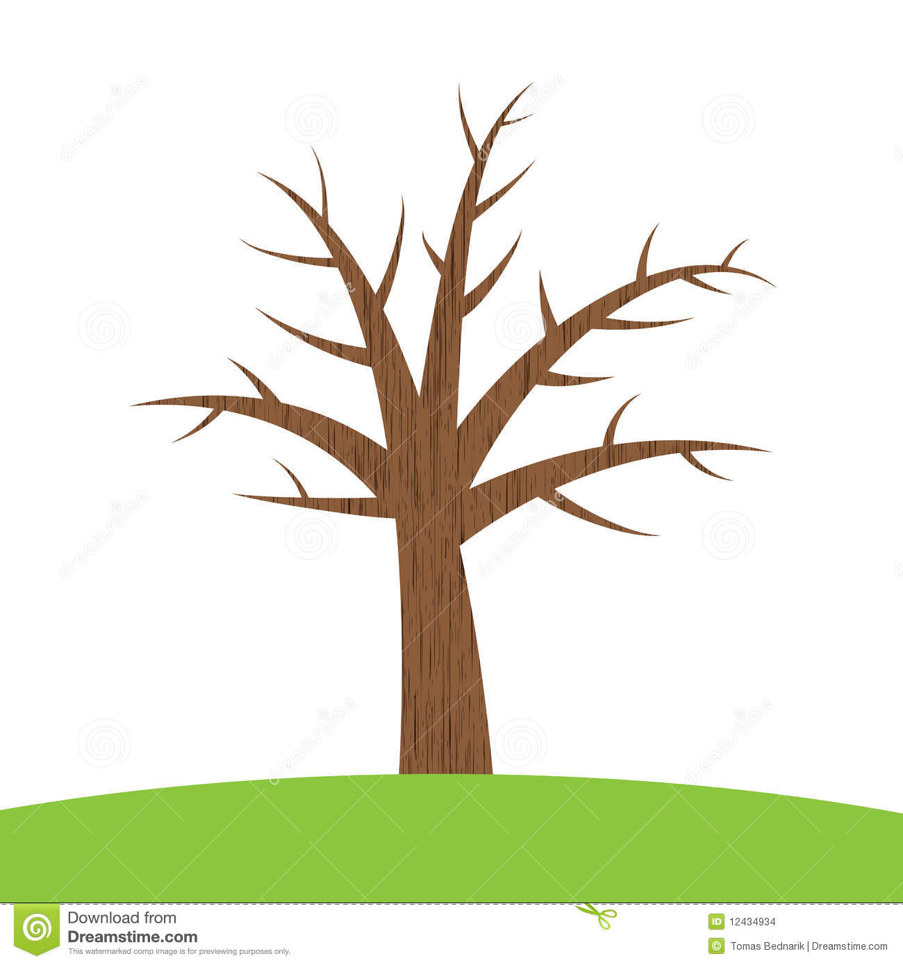 tree with trunk clipart branches - Clipground