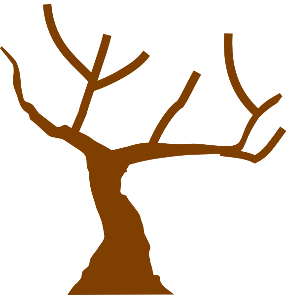 tree trunk with branches clipart - Clipground